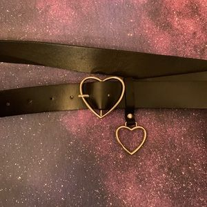 NEW Heart Buckle Belt